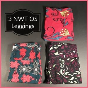 Lularoe Lot of 3 OS Leggings All New With Tags